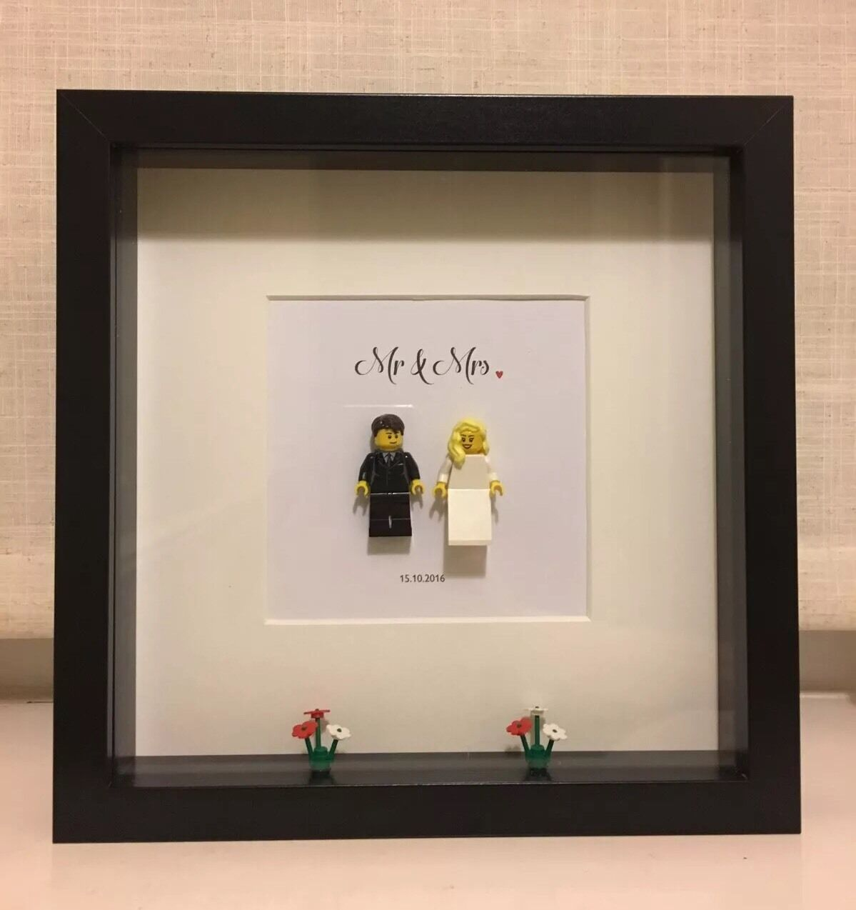 Personalised Framed Lego Wedding Gift 3000 Picclick Uk