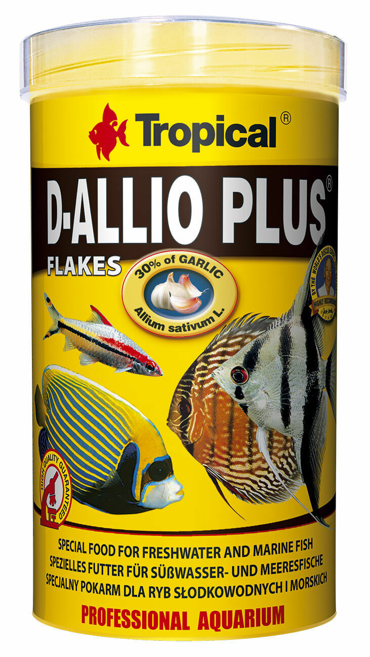 Tropical D-ALLIO Plus Flocke 1000 ml, Fischfutter, Diskus, mit Knoblauch
