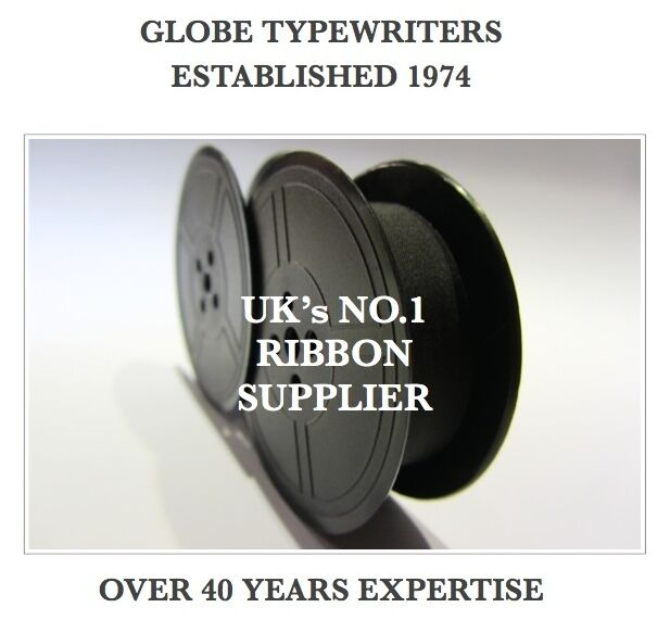 1 x 'UNDERWOOD 1' *BLACK* TOP QUALITY *10M* TYPEWRITER RIBBON TWIN SPOOL (*R/W*)