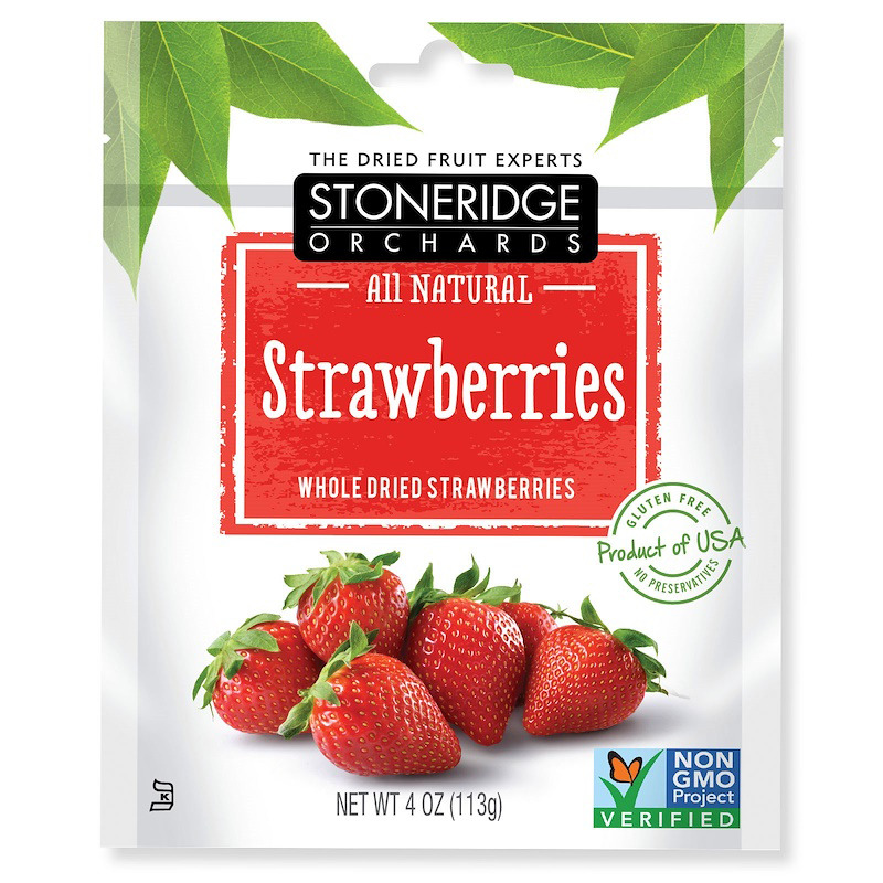 New Stoneridge Orchards Strawberries Whole Dried Fruit Gluten Free All Natural