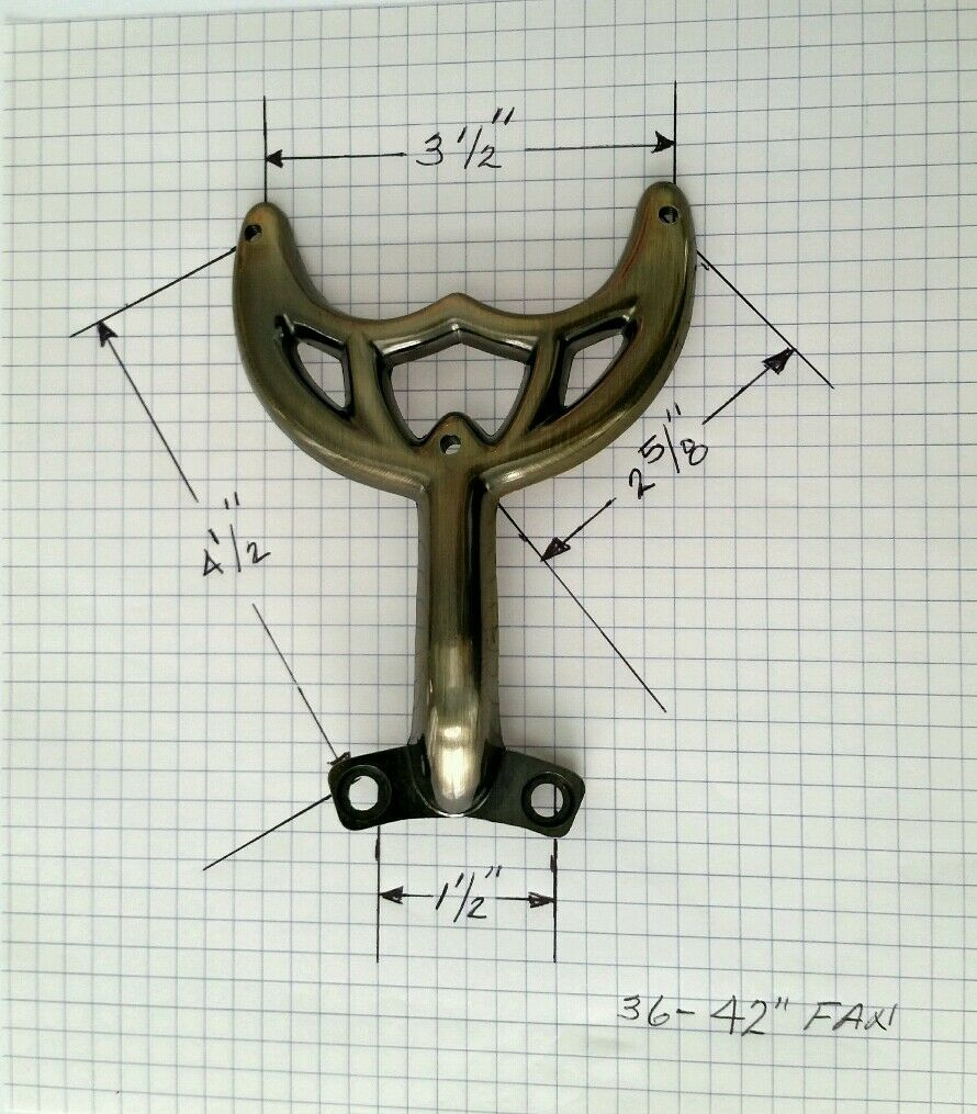 42 36 Antique Brass Ceiling Fan Blade Arm Replacement For Hunter Hamton