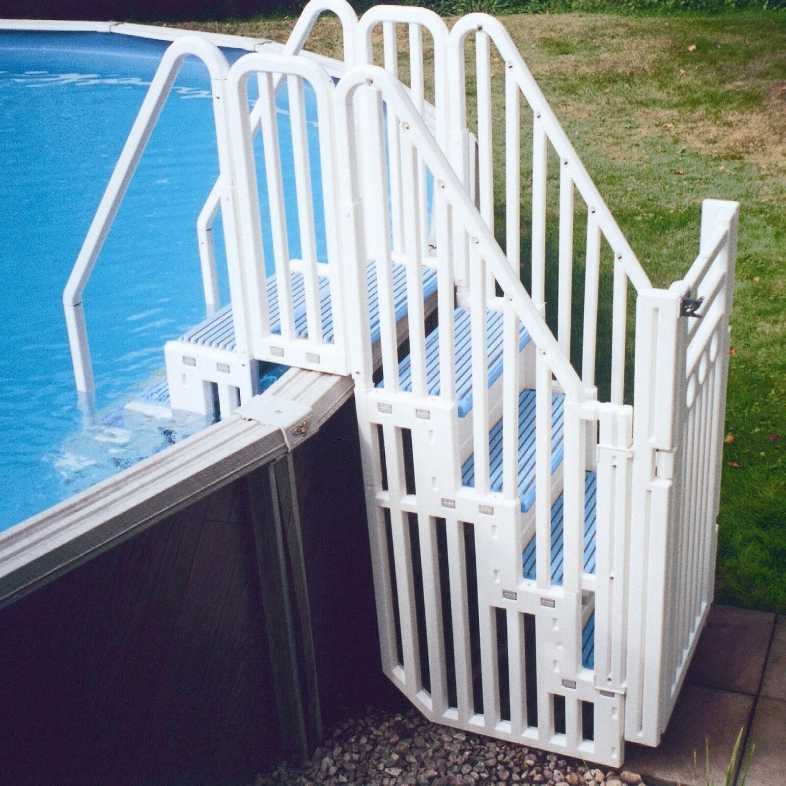 Confer Plastics Above Ground Swimming Pool Entry System W Steps Closure Kit 1 Of 1free