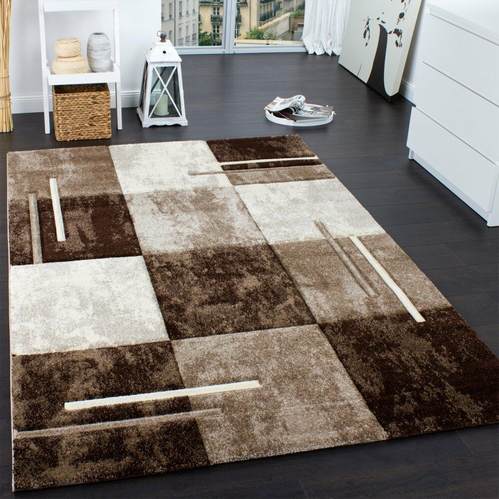 Luxury Brown And Cream Rug Soft Thick Living Room Carpet Small Extra Large NE