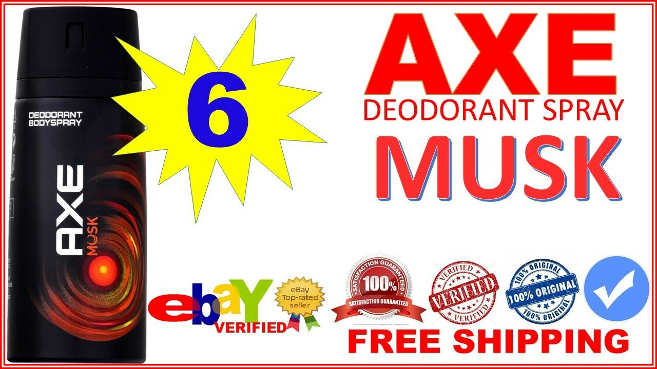 6 Axe Musk Deodorant Bodyspray Men Body Spray 150ml Ea Lot Of Anarchy For Him 150 Ml Twin Pack Cans 1 1free Shipping