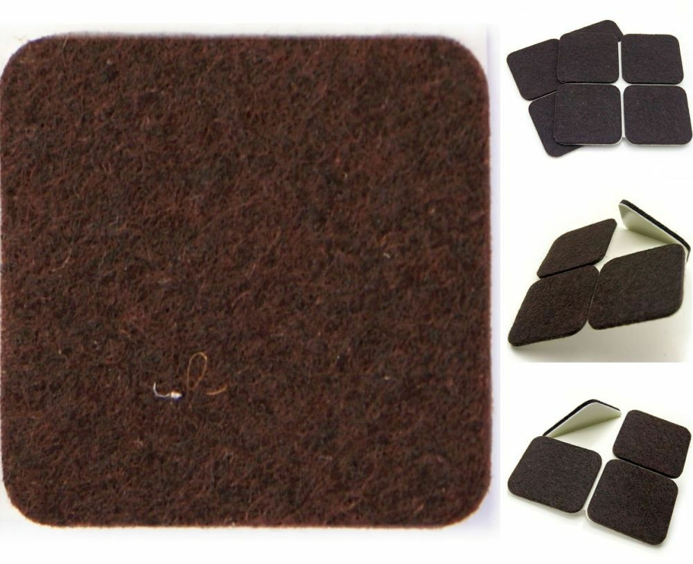 X Large Brown Furniture Felt Pads 150mm X 150mm Protects Wood Laminate Floor Eur 5 57