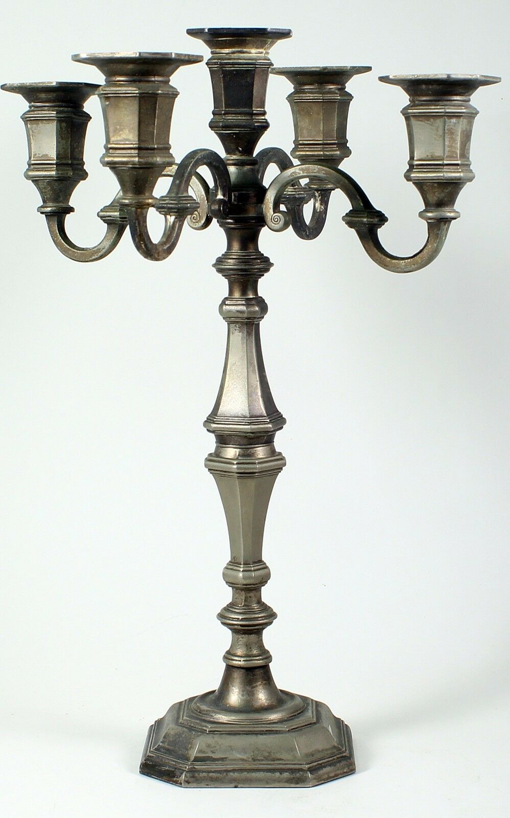 Antique Silver Plate Candelabra 5 Candle Holders