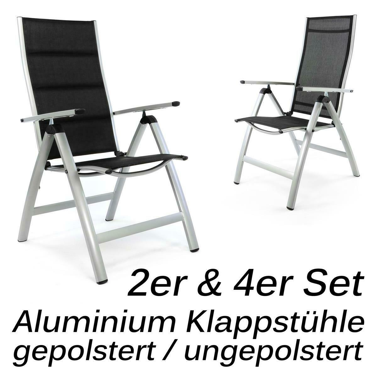 luxus gartenstuhl alu klappstuhl mit ohne polster menge w hlbar hochlehner eur 46 85. Black Bedroom Furniture Sets. Home Design Ideas