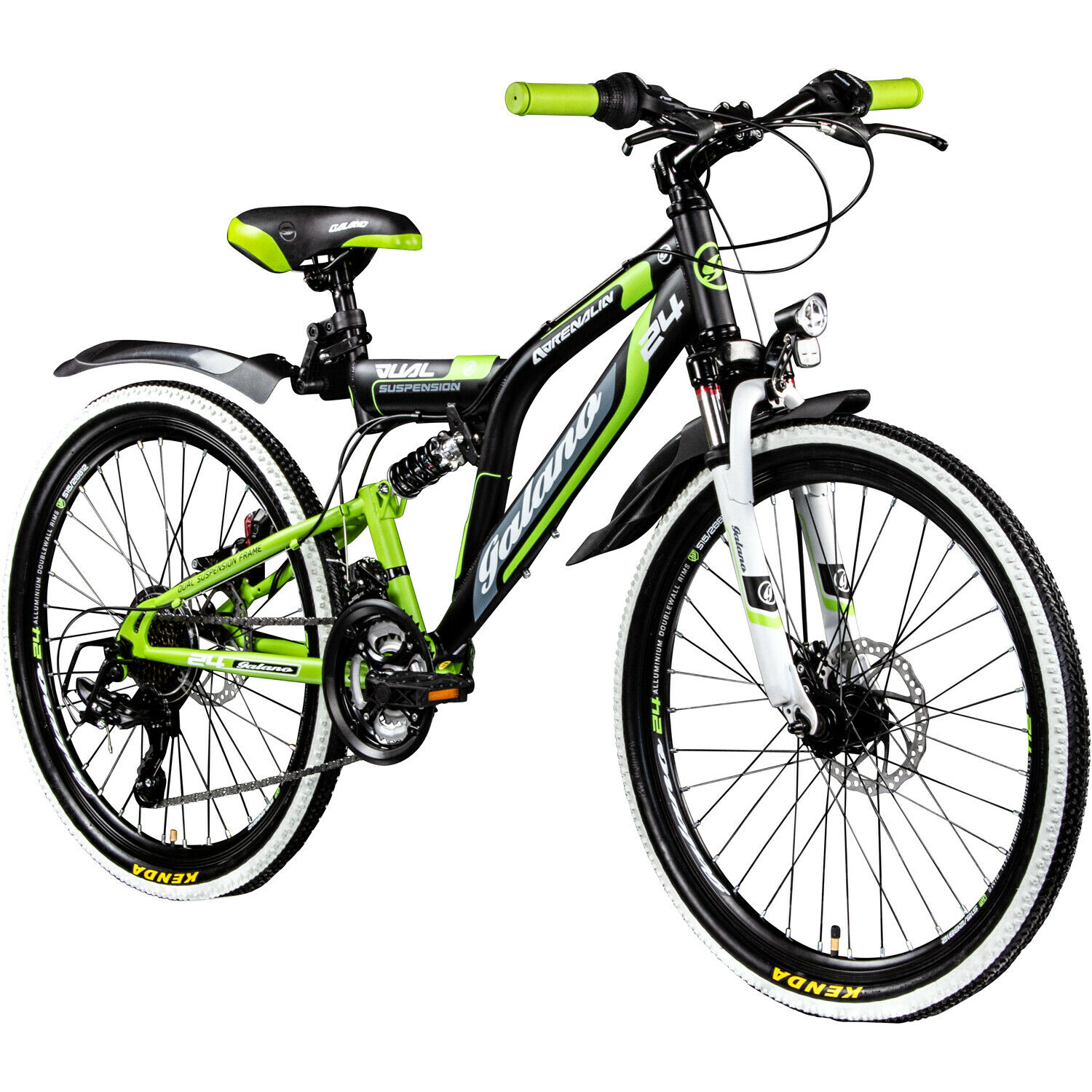 mountainbike 24 zoll mtb fully galano adrenalin ds stvzo. Black Bedroom Furniture Sets. Home Design Ideas
