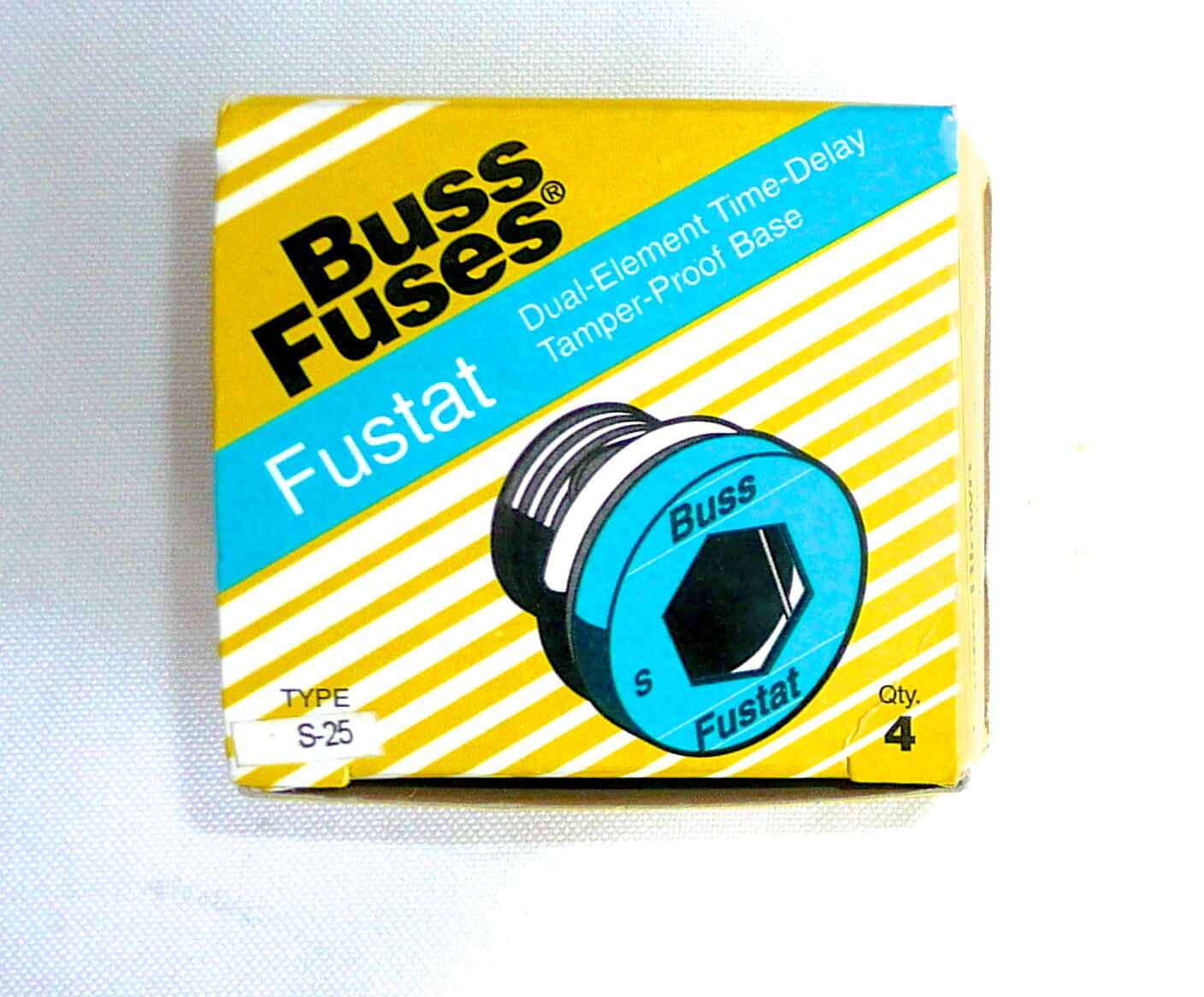 Buss Fuses Fuse Fustat Type S 25 Box Of 4 Dual Element For 125v Or 1 6free Shipping