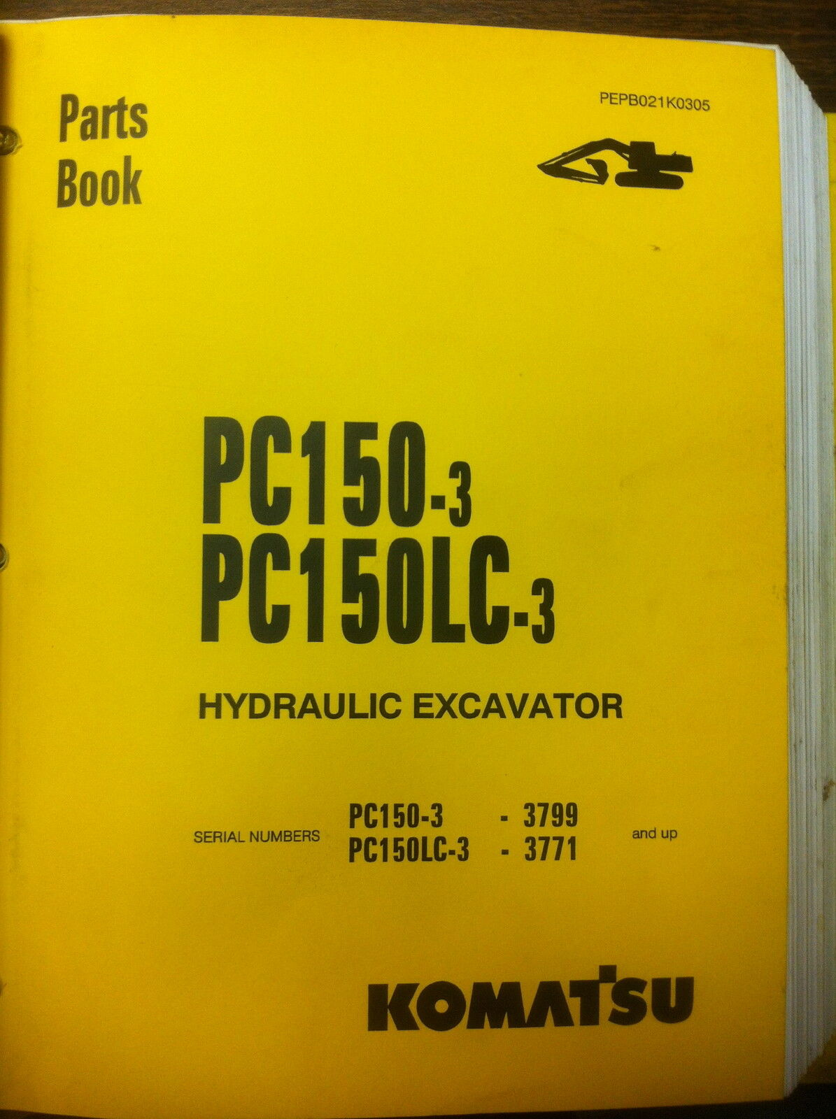 KOMATSU PC150-3 PC150LC-3 Hydraulic Excavator Parts Manual Book NEW 1 of 5  See More