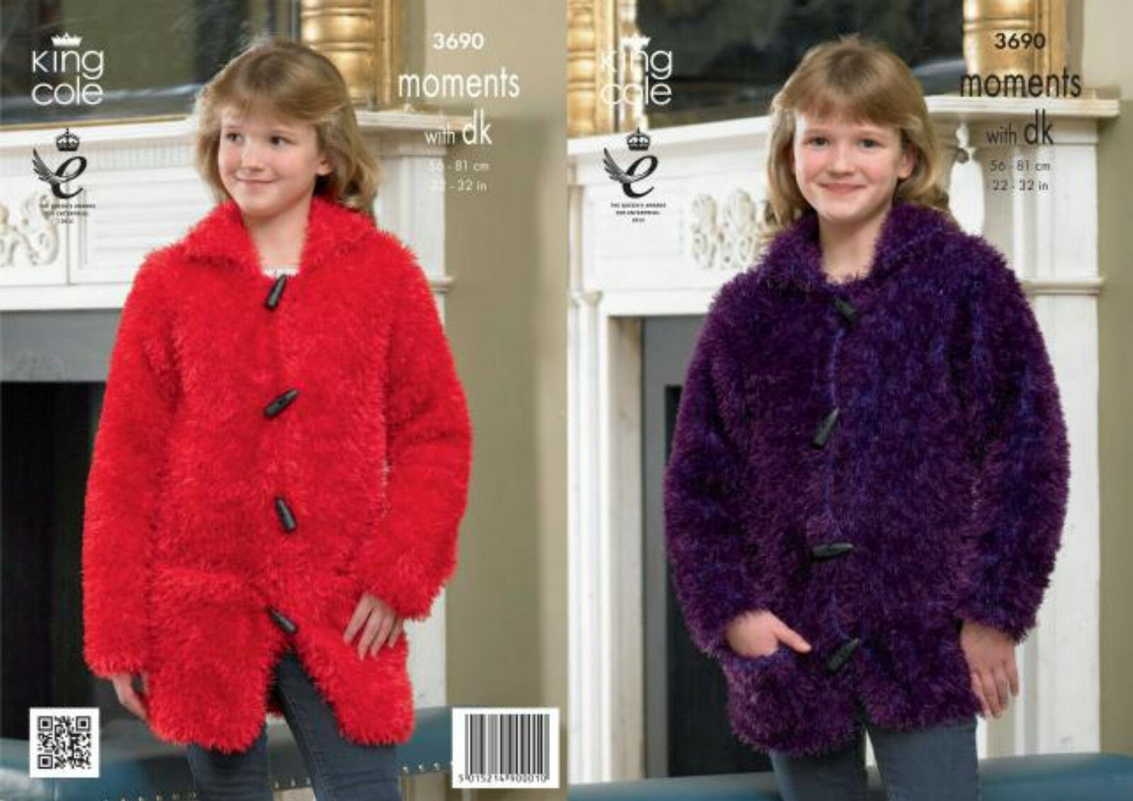 King Cole Knitting Pattern 3547 : King Cole Moments with DK Knitting Pattern 3690:Jacket & Coat   ?3.50 - P...