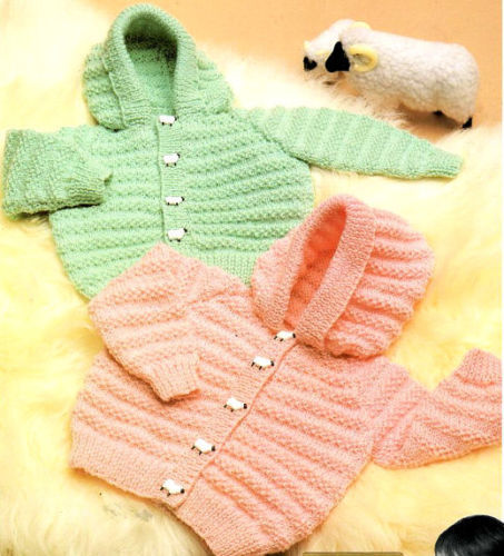 Baby Knitting Pattern copy Hooded Jackets in 8 Ply Post   AUD 4.00 - PicClick AU