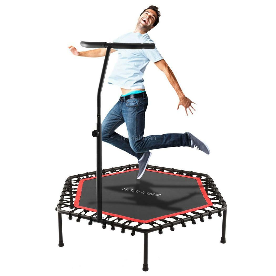 jumping trampolin mini fitness trampolin mit handlauf 113 x 128 x 26cm jumping eur 47 34. Black Bedroom Furniture Sets. Home Design Ideas