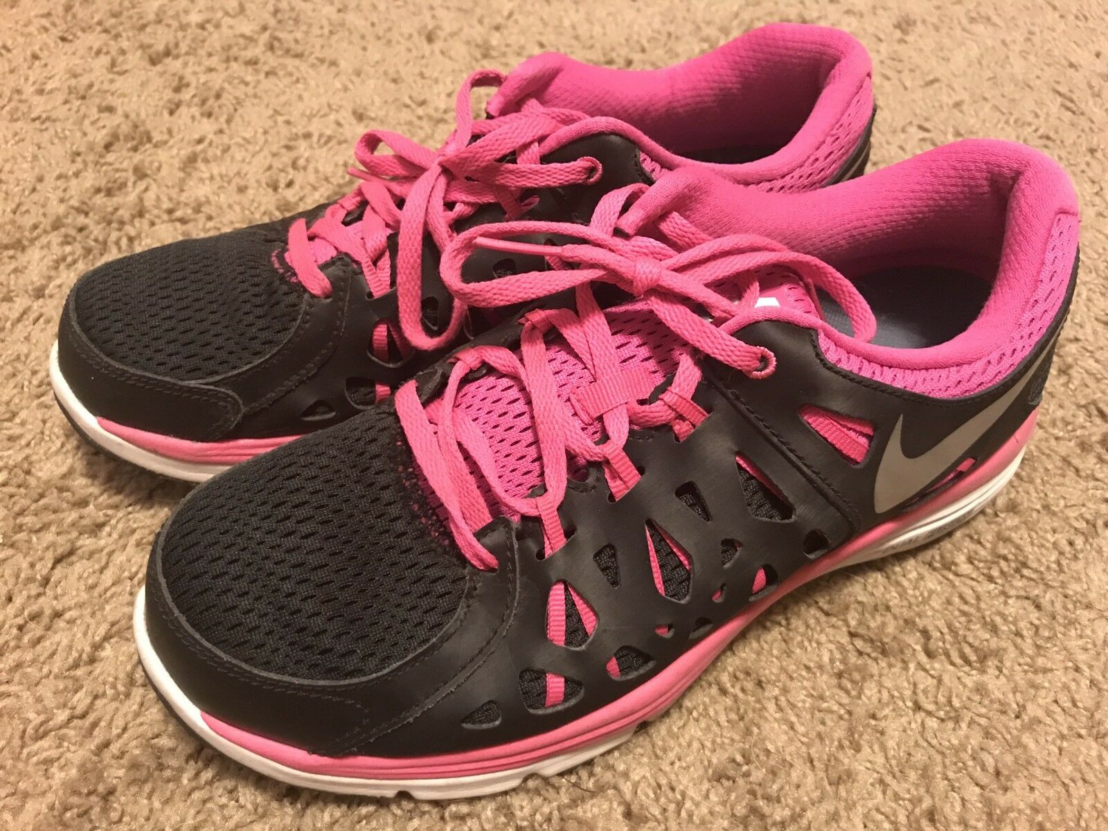 nike s running shoes black pink size 9 cad 24 59