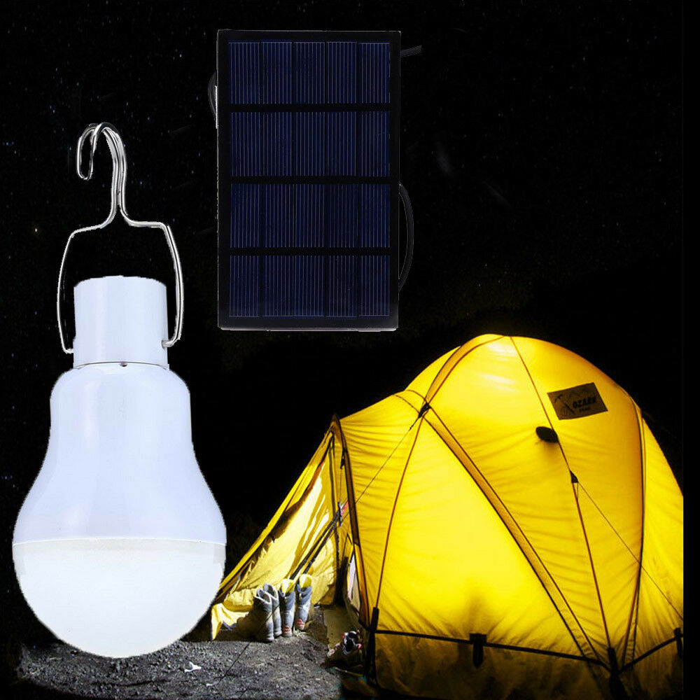akku led camping lampe mit solar panel outdoor laterne gartenleuchte zeltlampe eur 6 96. Black Bedroom Furniture Sets. Home Design Ideas
