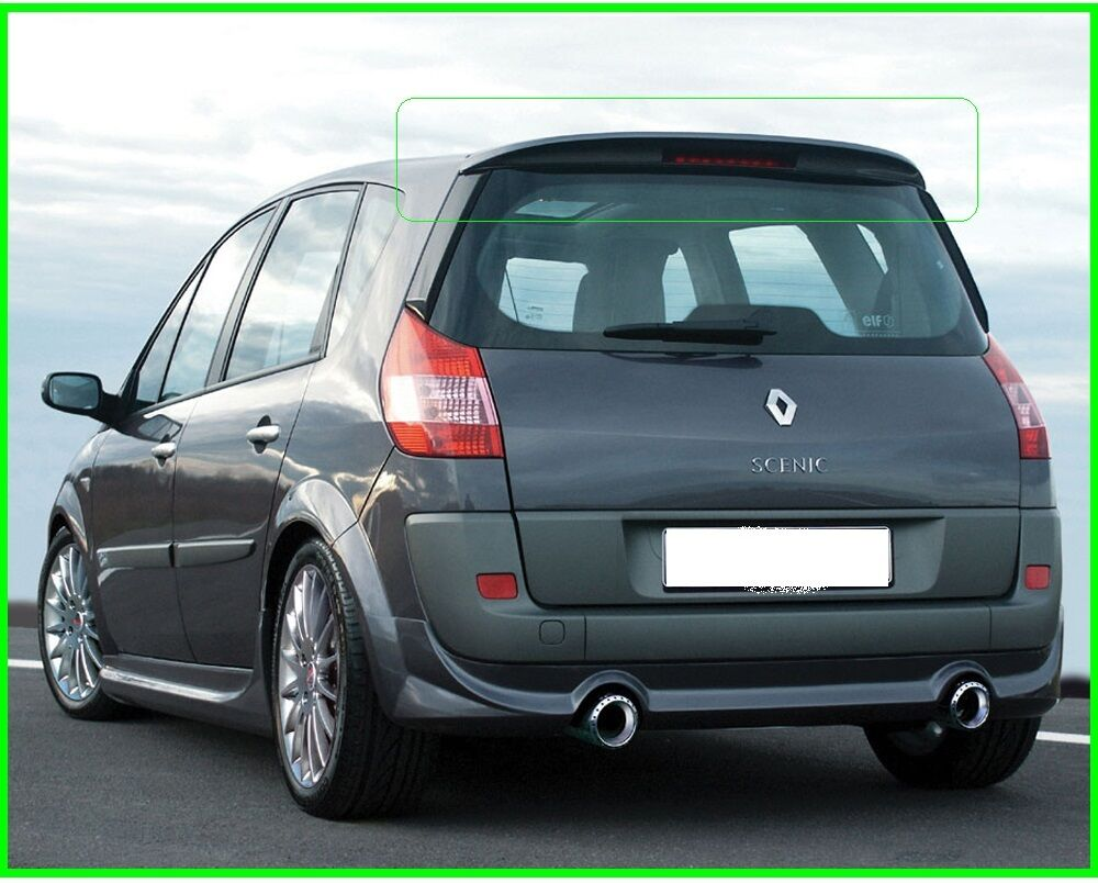 renault scenic mk2 rear roof spoiler 2003 2009 picclick uk. Black Bedroom Furniture Sets. Home Design Ideas