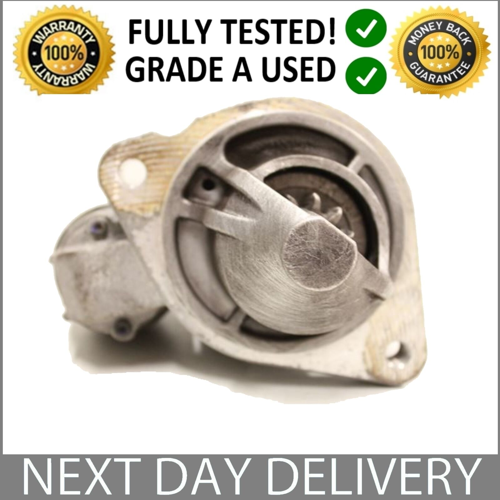 Genuine Oe Ford Starter Motor 10 Petrol Eco Boost Fiesta Mk6 Bench Test Solenoid 1 Of 1free Shipping
