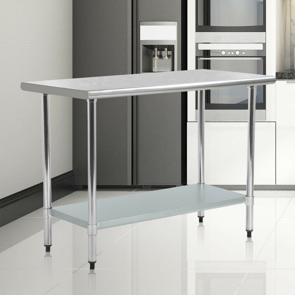 24 x 48 stainless steel kitchen work table commercial restaurant table 2448 1 of 5only 0 available see more