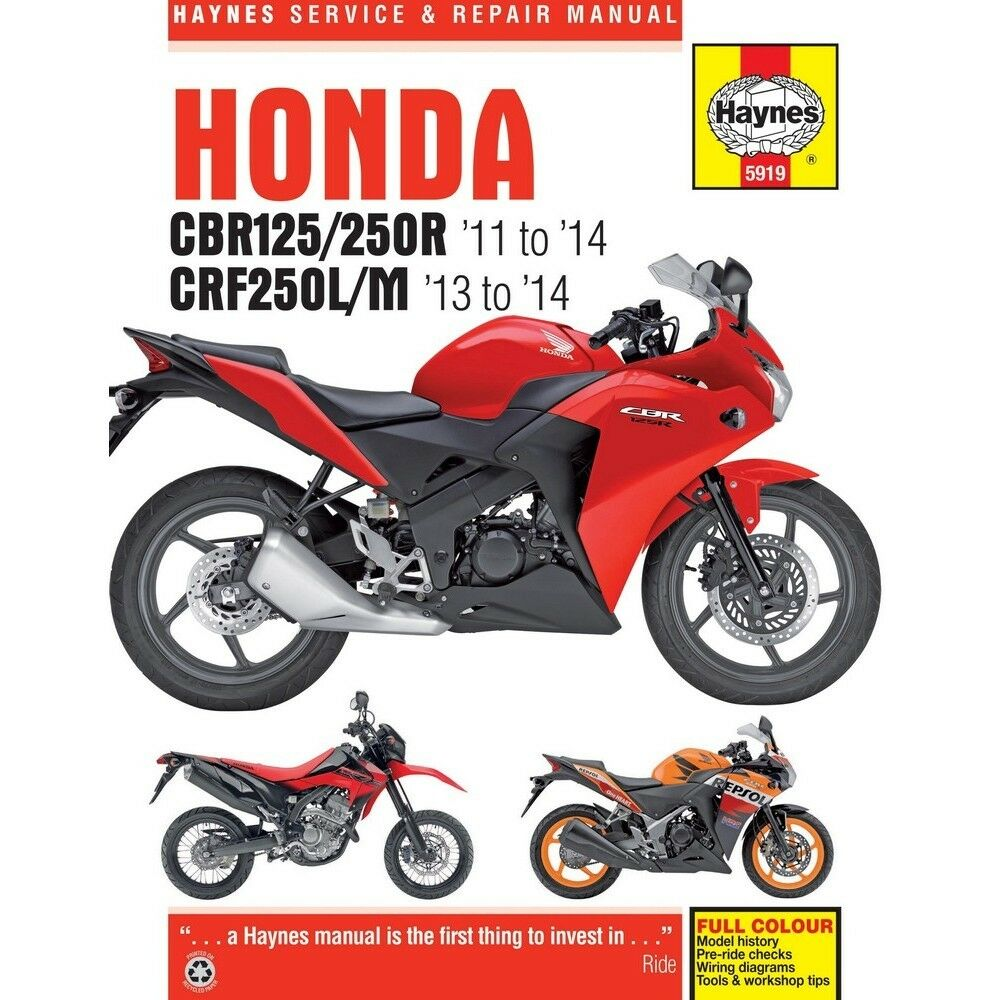 Honda Crf 250 L M 2013 2014 Haynes Workshop Manual Crf250l Crf250m Crf250r Wiring Diagram 1 Of 1only 2 Available
