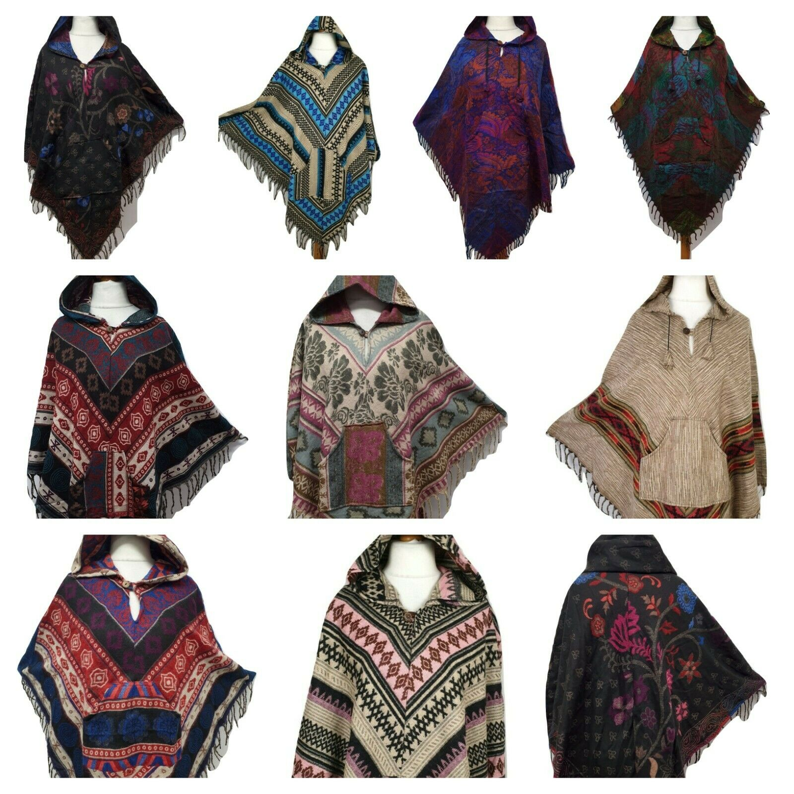 Hippie poncho hoodie