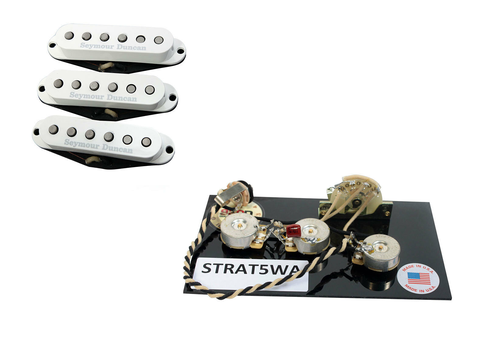 Seymour Duncan Ssl 1 Vintage Staggered Strat Pickup Set W S5w Kent Armstrong Neck Wiring Diagram Harness Of 5free Shipping See More