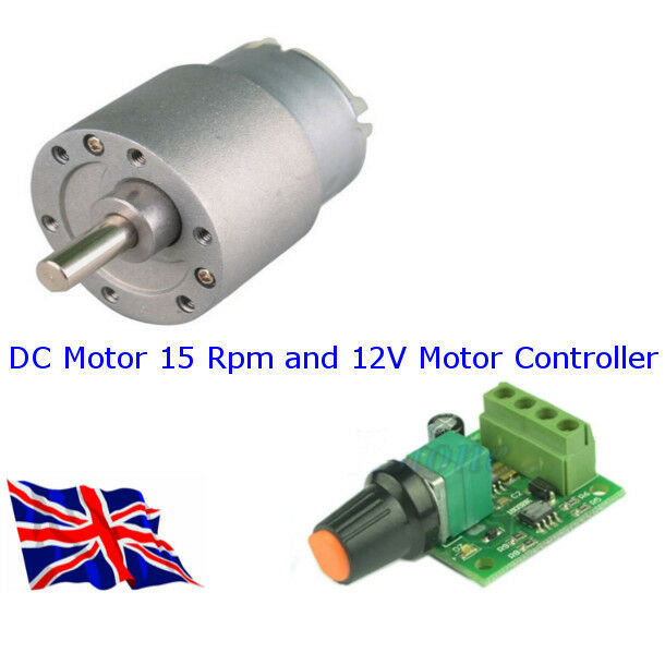 12 Volt Dc Motor 15 Rpm And Controller As A Package