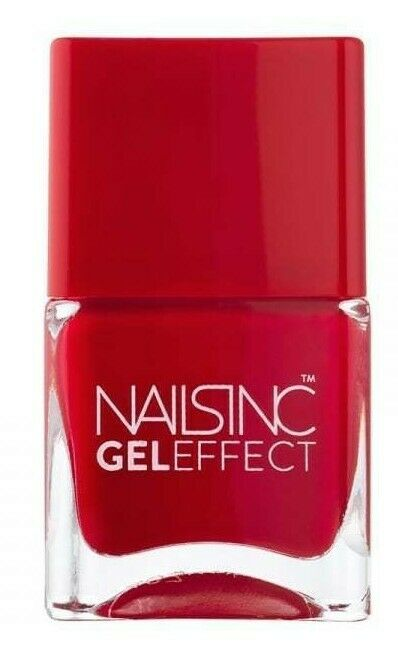 NAILS INC GEL effect St James Bright Red Nail polish Brand New ...