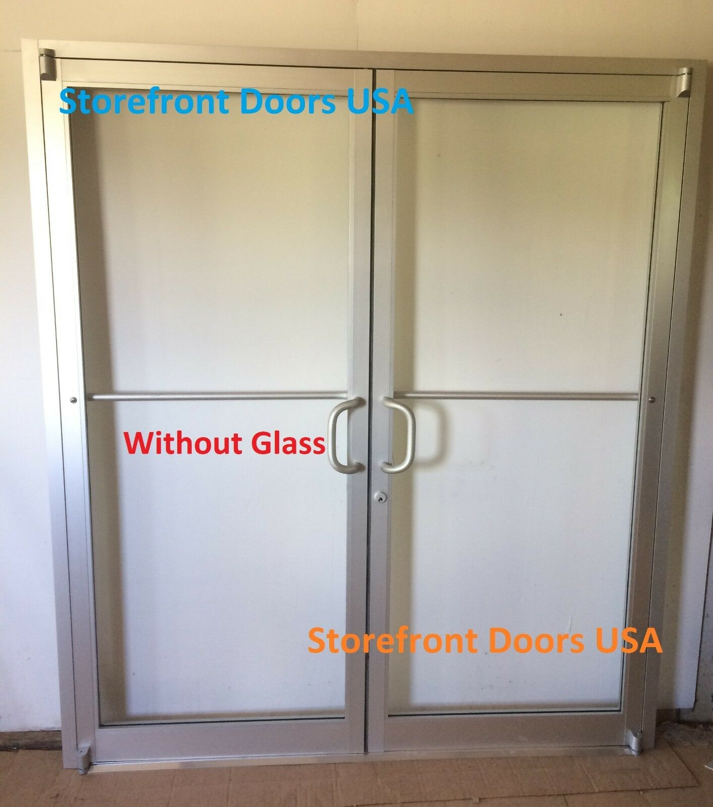 COMMERCIAL STOREFRONT DOOR, Frame & Closer 6\'0 X 7\'0 Pair, Clear ...