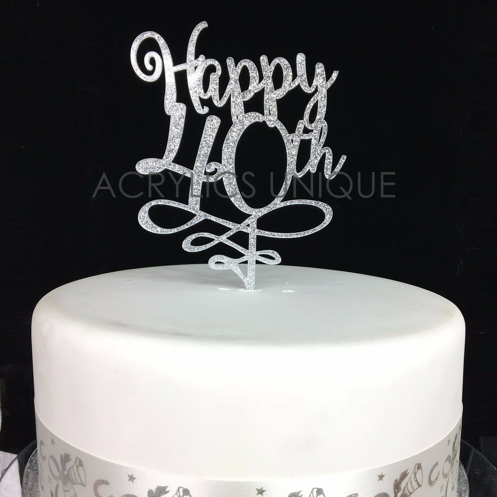 40th Birthday Cake Topper Acrylic High Quality 19 Colours 30 40 50