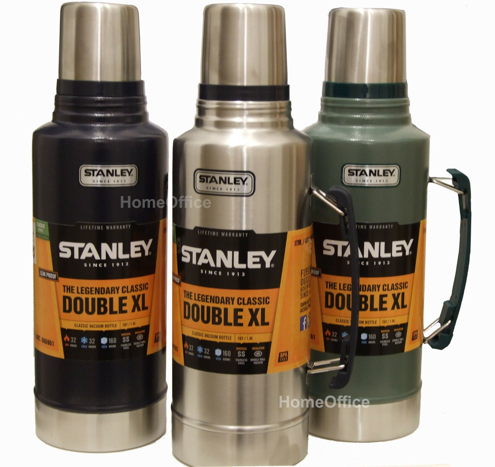 THERMOS FLASK STANLEY Vacuum Extra Large Flask 1.9L Stainless Steel ...