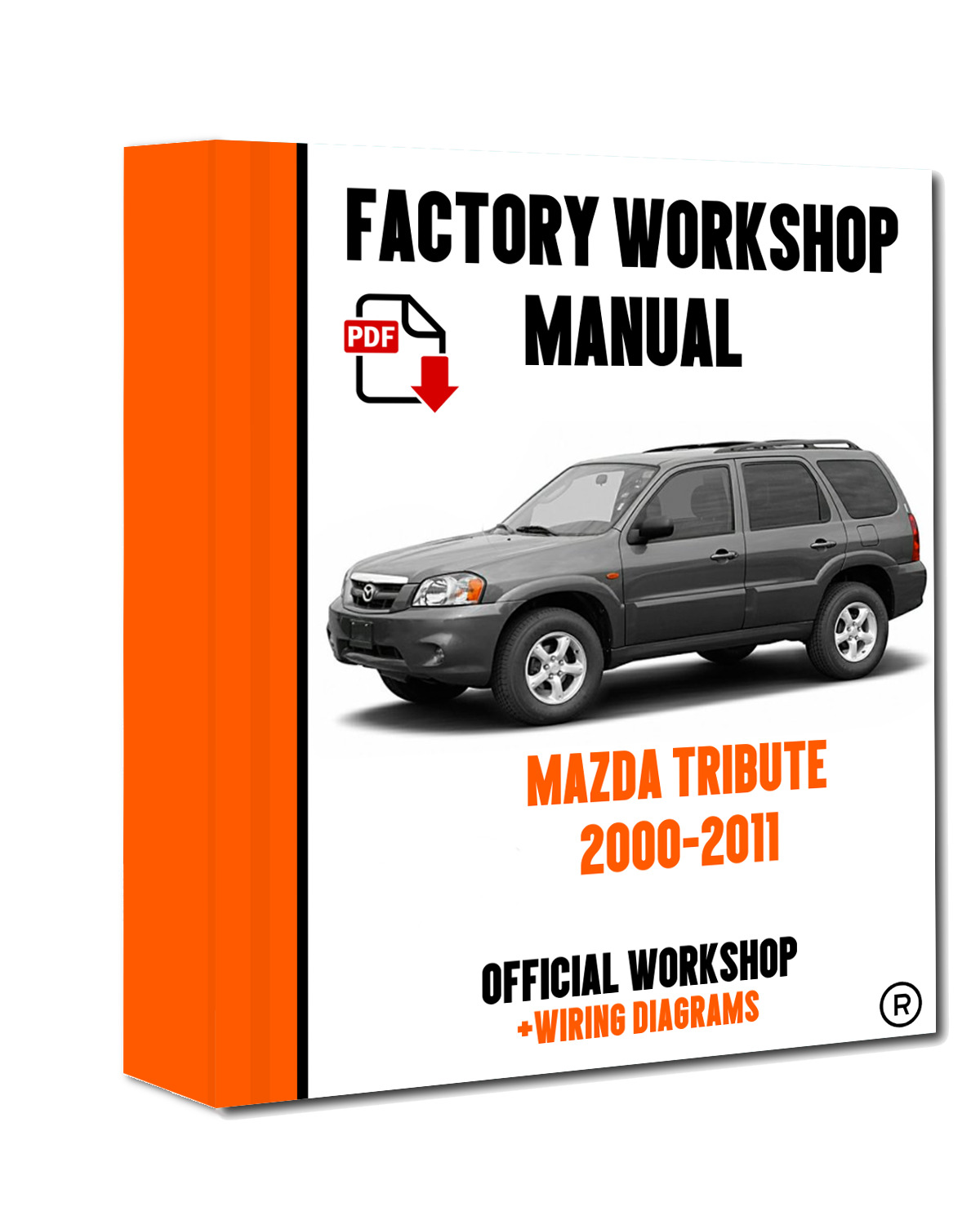 Official Workshop Manual Service Repair Mazda Tribute 2000 2011 Exhaust System Diagram On 2001 Engine Like Us Facebook 1 Of 5free Shipping See More
