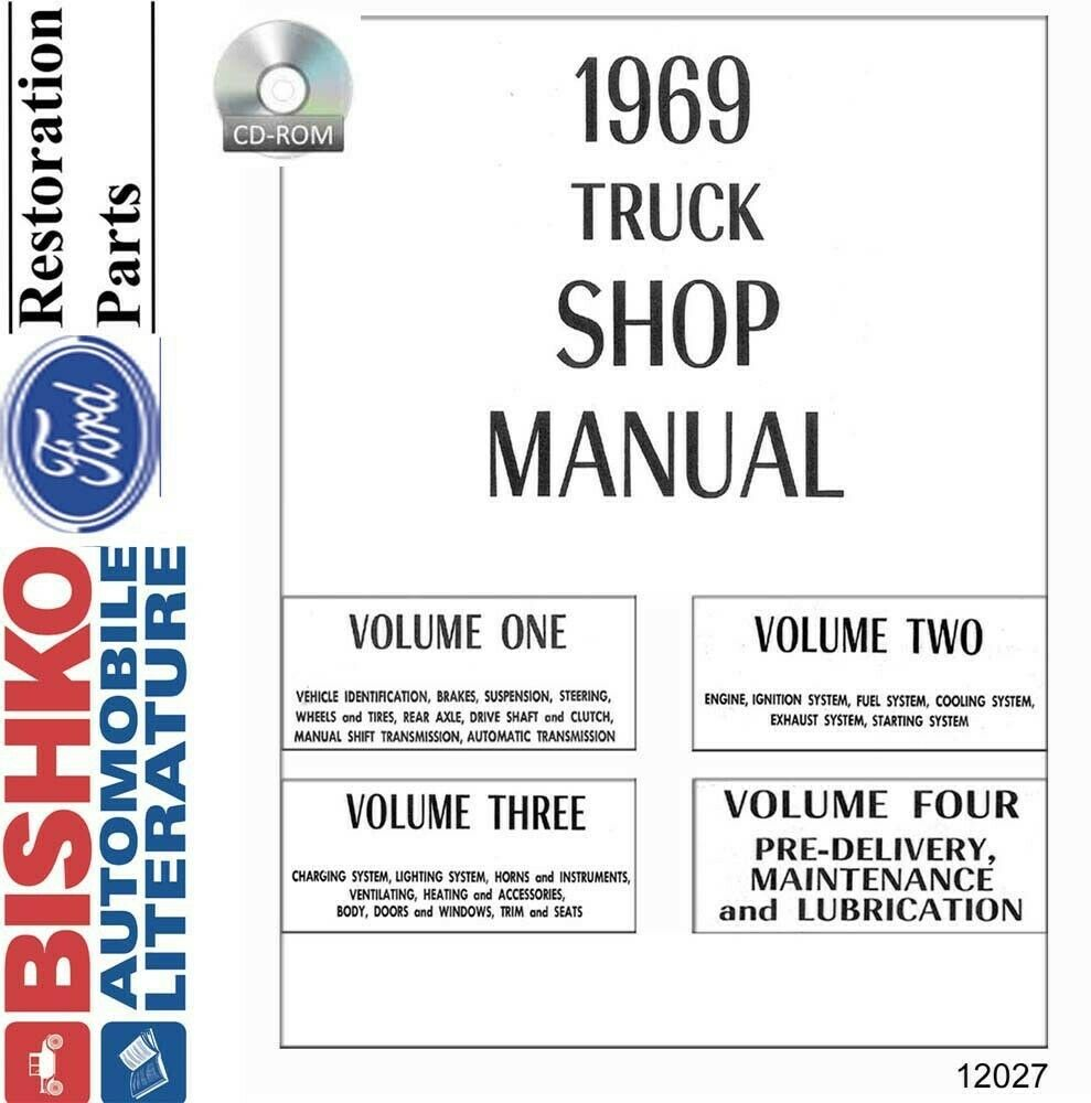 1969 Ford Truck Shop Service Repair Manual CD Engine Drivetrain Electrical  Body 1 of 1Only 1 available ...
