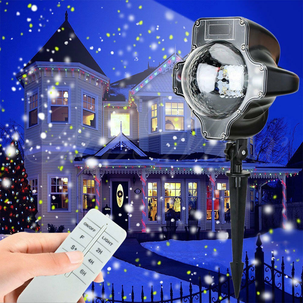 outdoor led laser landscape light snowing projector party. Black Bedroom Furniture Sets. Home Design Ideas