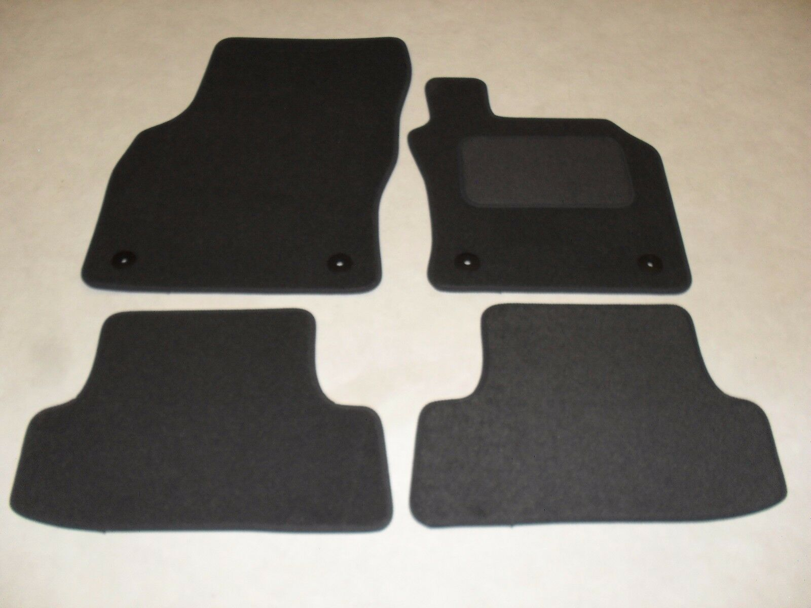 AUDI A Fully Tailored Deluxe Car Mats In Grey With Grey - Audi car mats