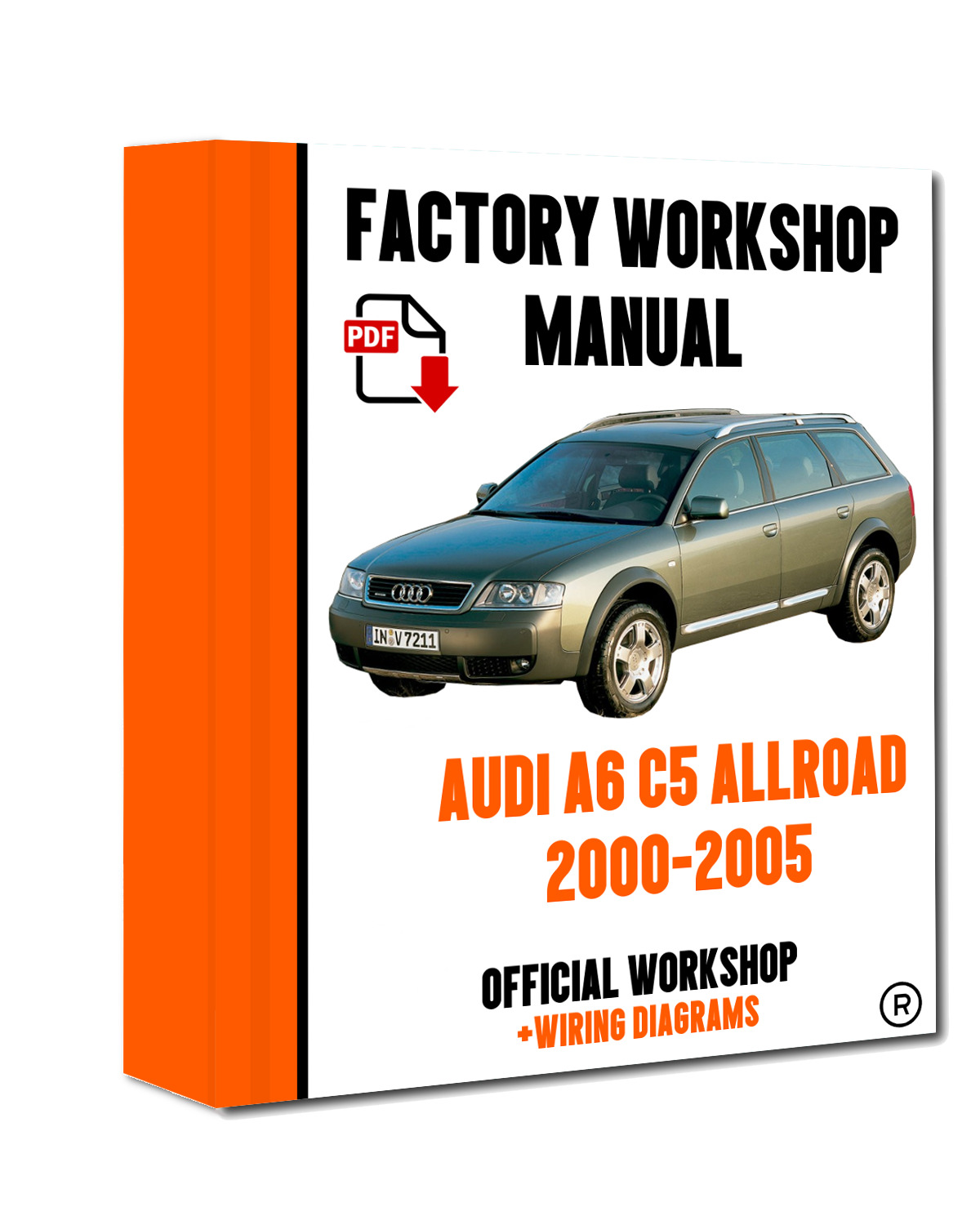 OFFICIAL WORKSHOP Manual Service Repair Audi A6 C5 Allroad 2000 - 2005 1 of  6FREE Shipping ...