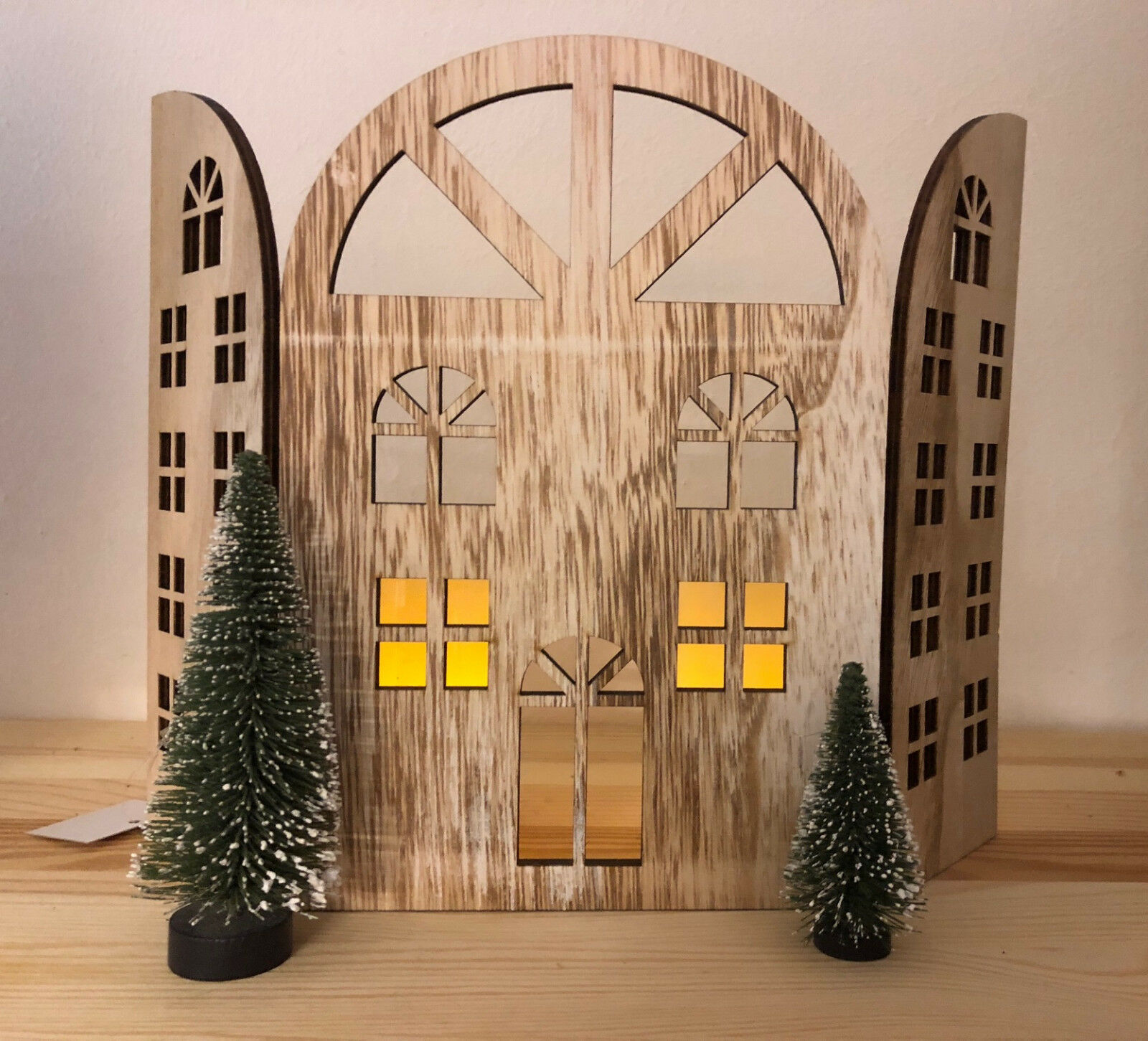 holzhaus zum aufstellen weihnachtsdeko xmas eur 7 75 picclick de. Black Bedroom Furniture Sets. Home Design Ideas