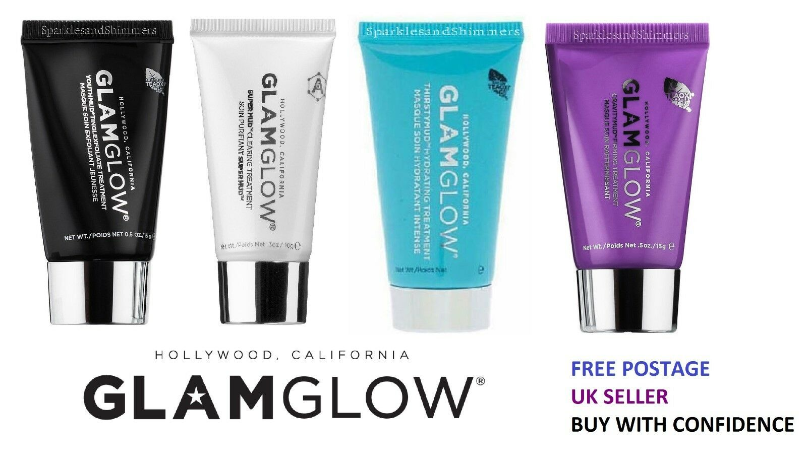 Glamglow Mask Choice Of Treatment Glam Glow Clearing Cleaning Supermud 50 Gr 1 1free Shipping