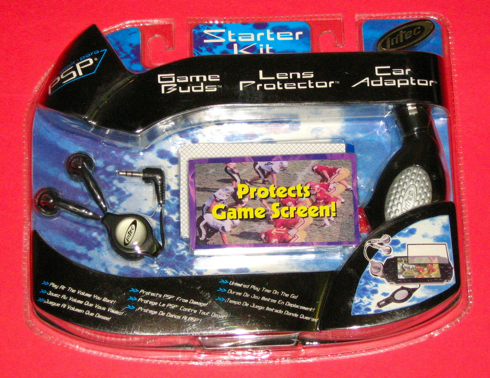 New Intec Starter Kit For Sony Psp Game Buds Lens Protector And Car Charger 1 Of 1only 2 Available