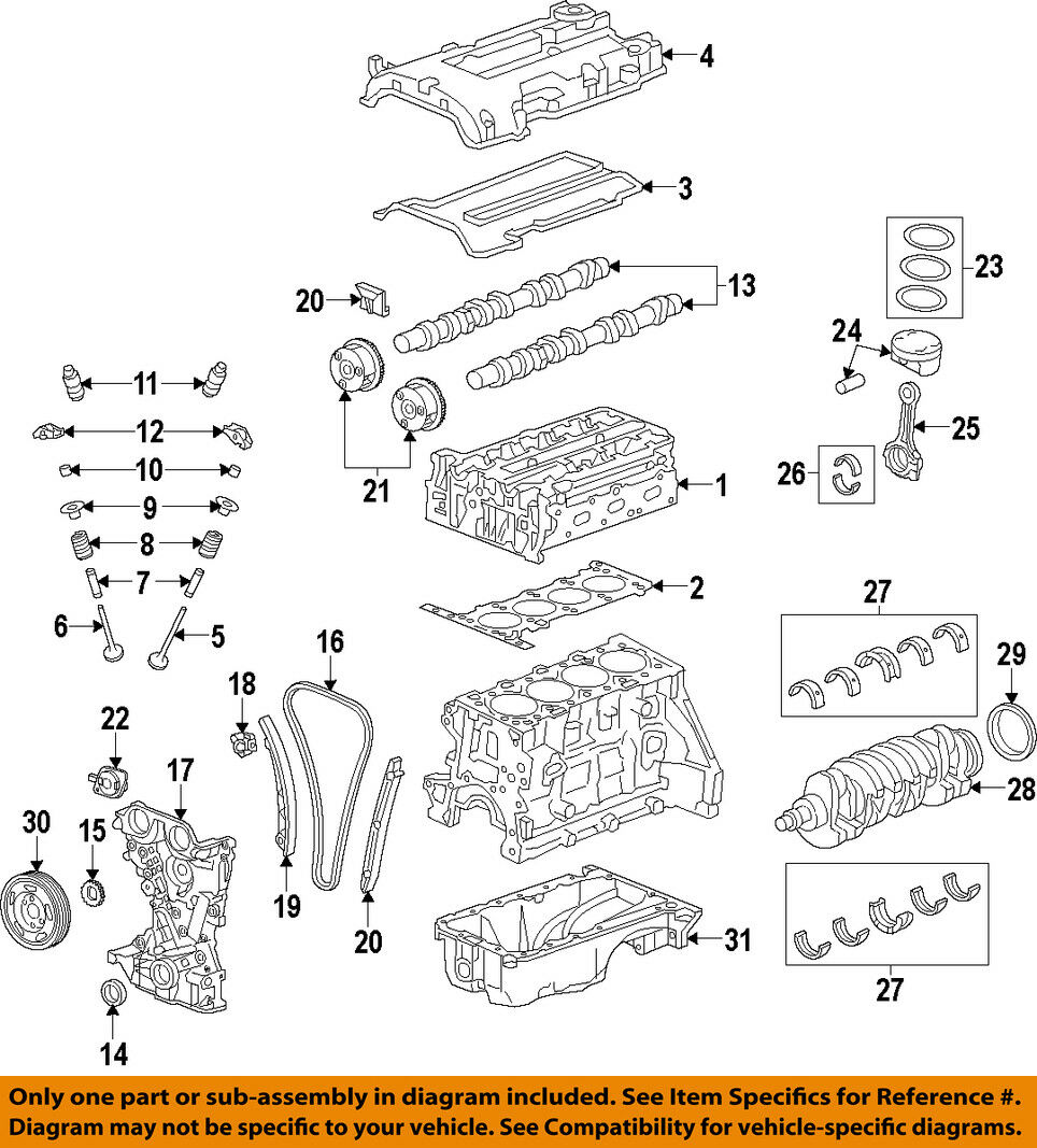 2011 2013 Hyundai Elantra Engine Timing Chain Genuine Oem New 24321 Diagram 1 Of 1only 4 Available