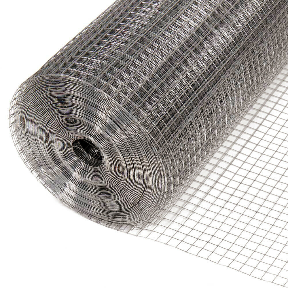 4 M SQUARE Galvanised Mesh Woven Wire Welded Aviary Hutch Net Fence ...