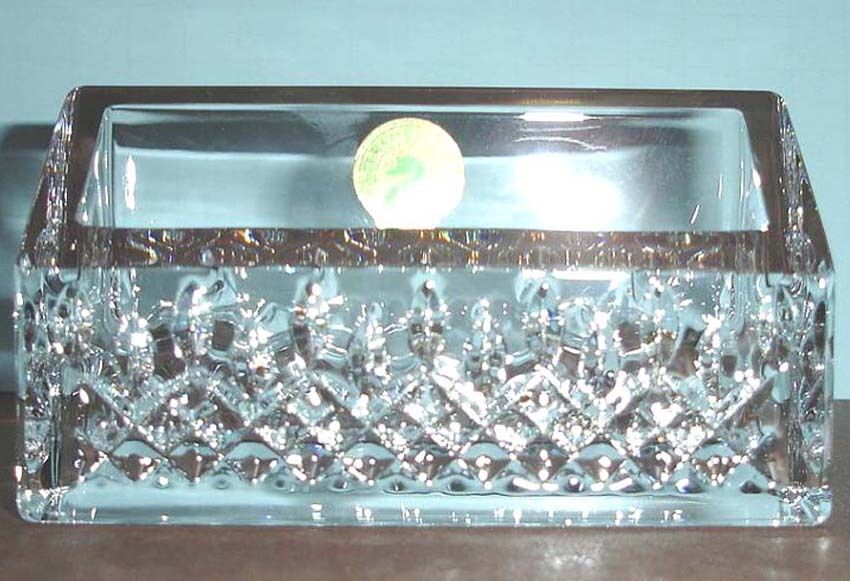 Waterford lismore essence crystal business card holder desk waterford lismore essence crystal business card holder desk collection new 1 of 4only 4 available colourmoves