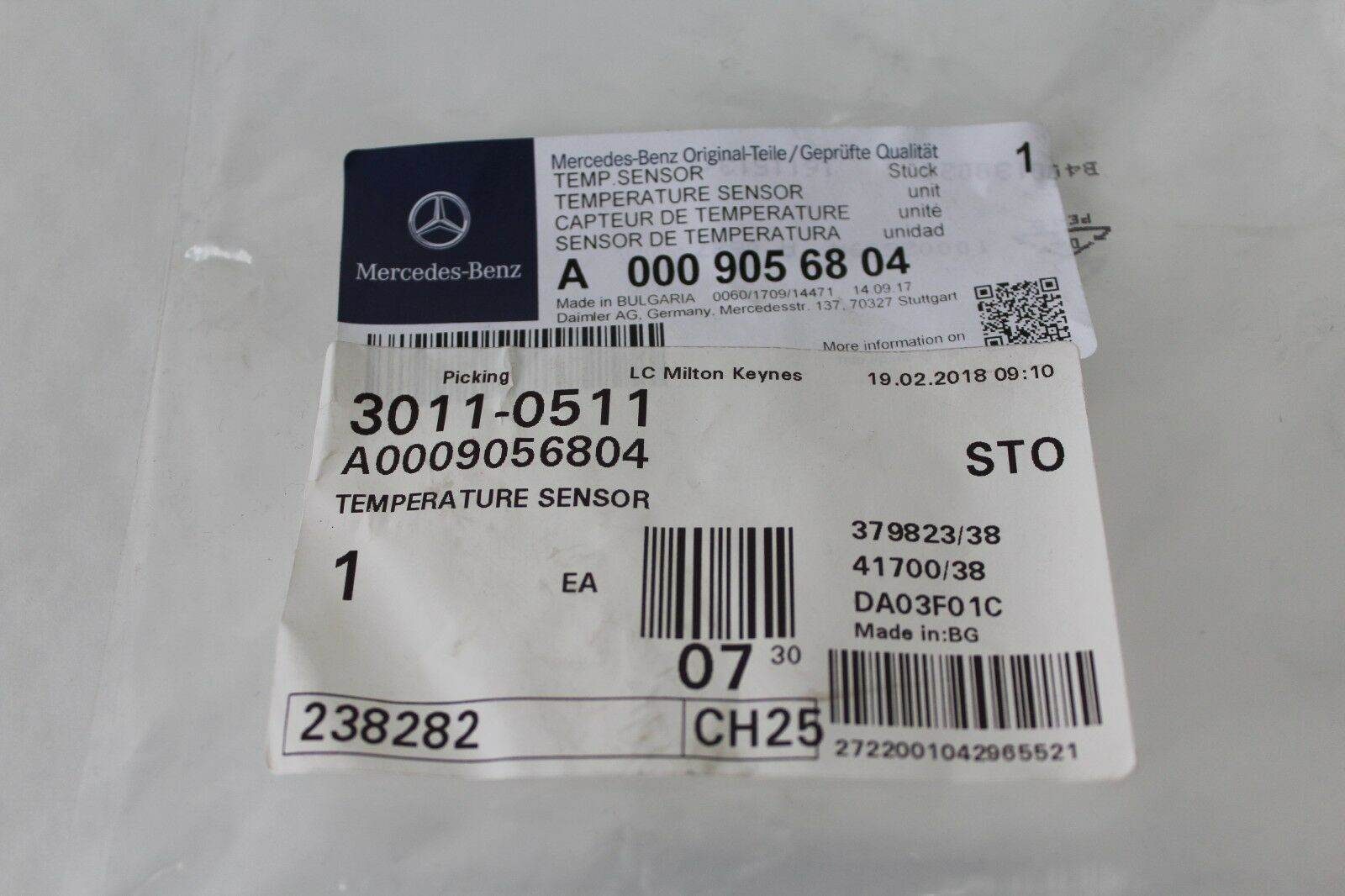 Genuine Mercedes Benz Engine Exhaust Gas Dpf Temperature Sensor A0009056804 New 1 Of 2only 4 Available
