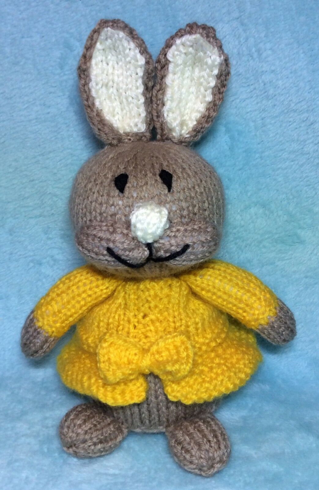 KNITTING PATTERN - Mopsy inspired choc orange cover / 18cms Peter ...