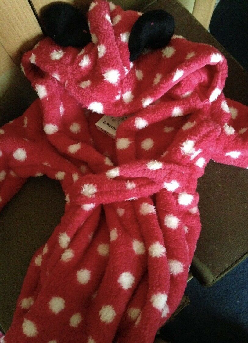 MINNIE MOUSE ROBE /Dressing Gown 6-9 Months BRAND NEW - £10.99 ...