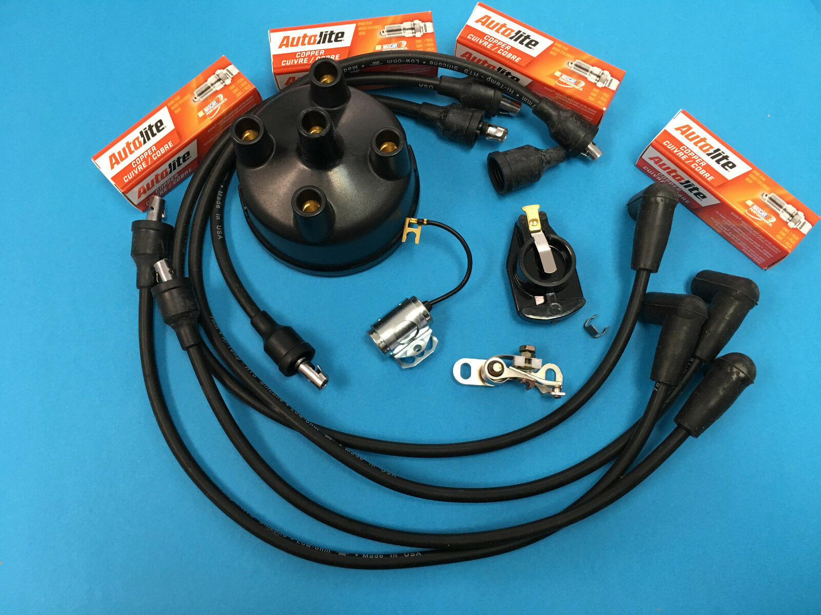 Ford NAA 600 601 800 801 900 Tractor Tune Up Kit Wires Plugs Points Cap  Rotor 1 of 1 See More