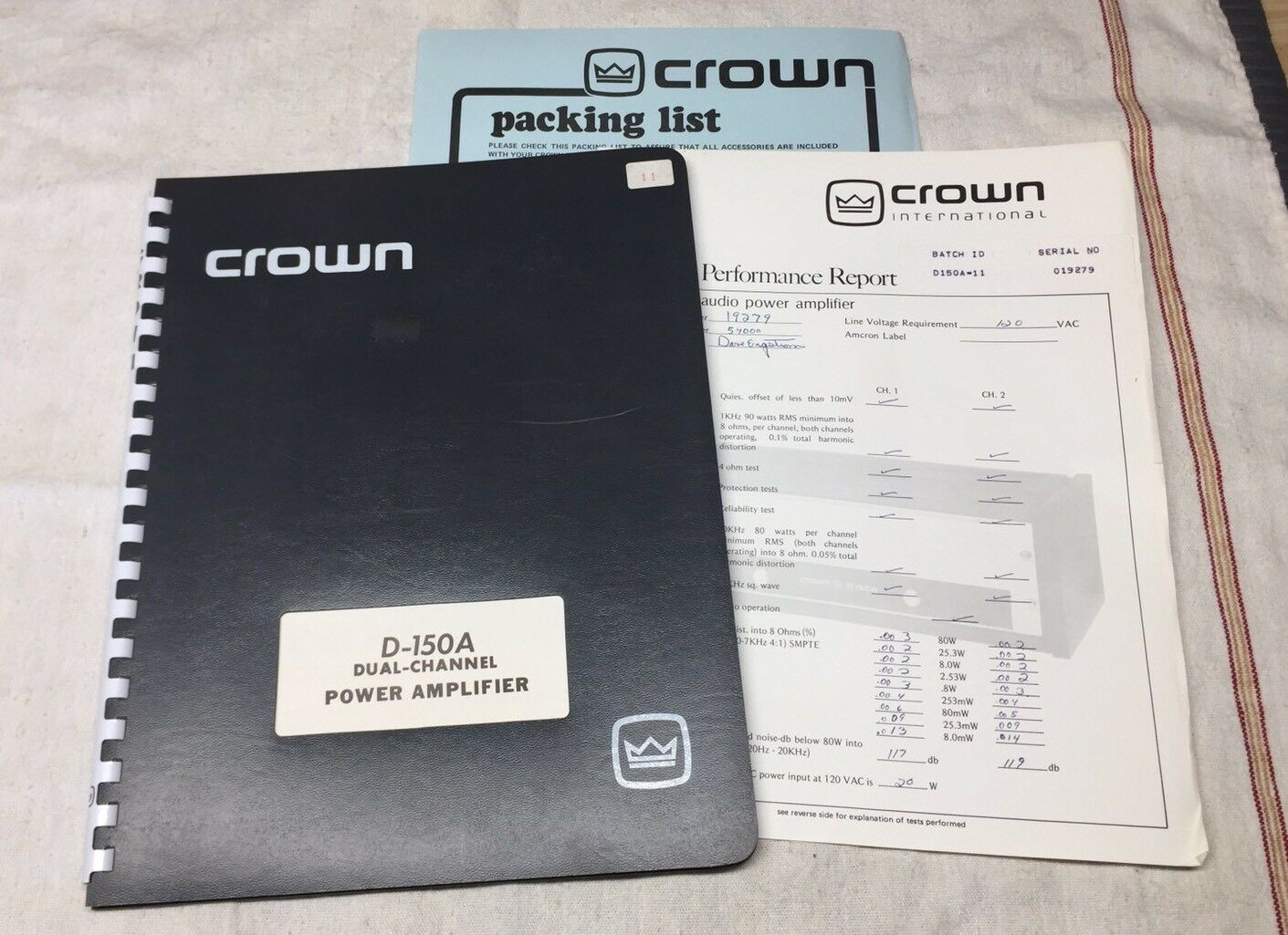 Crown D-150A Audio Power Amplifier Original Instruction Manual M053 1 of  3Only 1 available ...