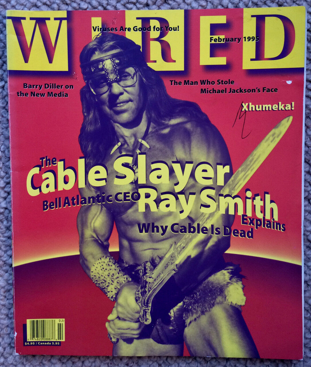 WIRED MAGAZINE (US edition) February 1995 excellent condition ...