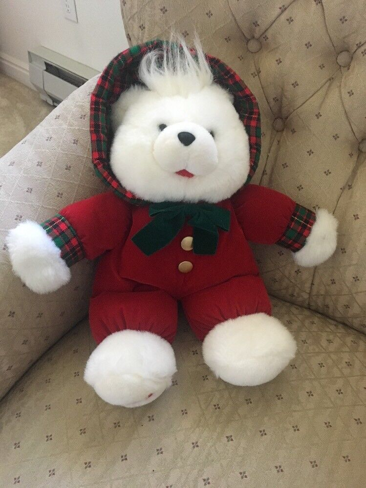 VINTAGE 1993 KMART CHRISTMAS BEAR STUFFED PLUSH 150th ANNIVERSARY ...