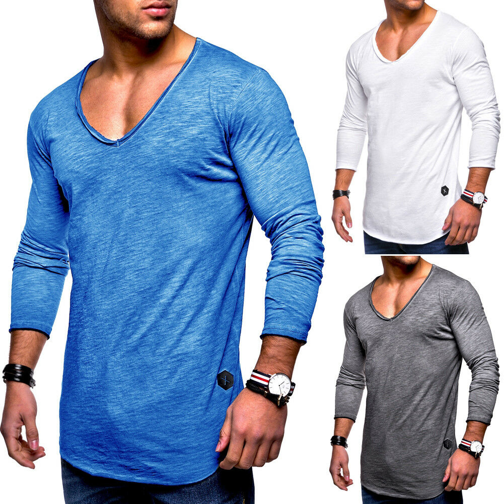 herren oversize longsleeve t shirt sweatshirt longline pullover schwarz wei neu eur 9 90. Black Bedroom Furniture Sets. Home Design Ideas