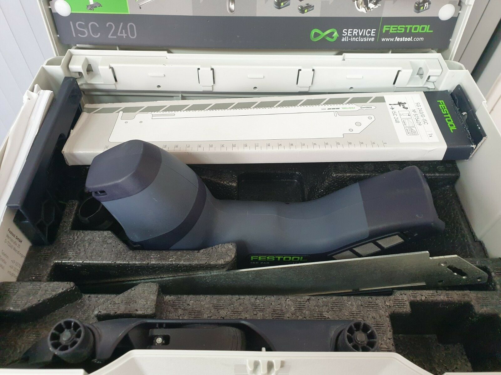 Festool Cordless Saw Isc 240 Li Eb Basic 574821 39900 Picclick Uk Disc Grinder 115 Mm Hitachi G 18dl 1 Of 1only 2 Available
